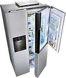door in door amerikaanse koelkast